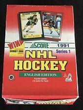 1991 Score Hockey Series 1 English Edition Trading Cards Wax Box