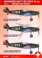 KORA Decals 1/48 MESSERSCHMITT Bf-109E-3A EMIL Swiss Air Force Part 1