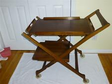 Yugoslavia Portable Danish Style Tea Cart Removable Serving Tray / Table Teak