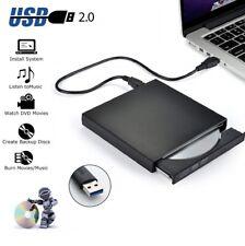 Portable Slim USB 2.0 DVD CD R/RM Burner Writer Copier Player Fit All Laptops PC