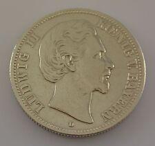 2 Mark Dt. Reich Silber Silbermünze / Ludwig II. Koenig V. Bayern / 1876 D