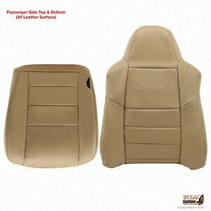 2002 203 2004 2005 Ford Excursion PASSENGER Bottom-Lean Back LEATHER Cover Tan