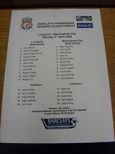 03/04/2006 Liverpool Reserves v Birmingham City Reserves  (Single Sheet). Bobfra