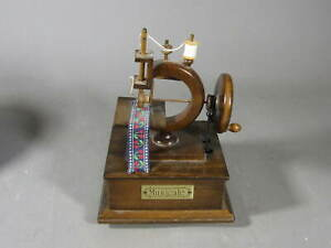 Vintage Toy Sewing Machine Music Box by Gorham