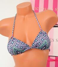 VS VICTORIA'S SECRET Swim Teeny Triangle Strappy Halter Bikini Top XS Jewel Gold