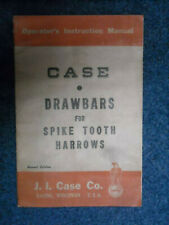 Case Operators Instruction Manual Drawbars for Spike Tooth Harrows