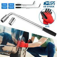 4 Way Extendable Tire Wheel Nut Wrench Telescoping Lug Wrench With CR-V Sockets