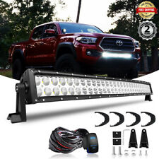 "30.5"" 32INCH LED Light Bar w/Wiring Fits 2005-2015 Toyota Tacoma Lower Bumper"