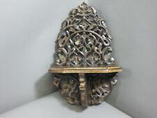 SCAFFALE CONSOLE DA PARETE 30 cm x16cm legno intagliato Guardaroba Tavola Muro
