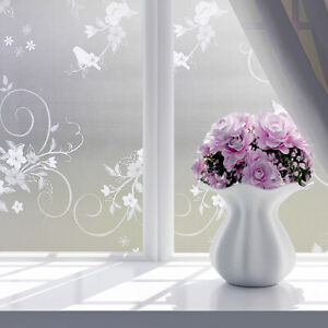 """Window Glass Sticker Self Adhesive Frosted Privacy  Film Bedroom Bathroom 17x78"""""""