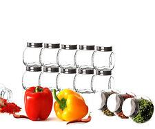 12er Set Gewürzgläser 200ml mit Schraubdeckel Vorratsgläser Behälter Glas Dosen