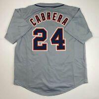 New MIGUEL CABRERA Detroit Grey Custom Stitched Baseball Jersey Size Men's XL