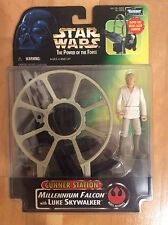 Star Wars Power of the Force Millennium Falcon Gunner Station Luke Skywalker MIP