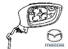 Genuine Mazda 6 2014-2016 Mirror Casing Assembly LH - GJF769181J