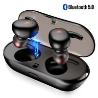 Mini True Bluetooth Wireless Earbuds TWS Twins Stereo Earphone In-Ear Headset