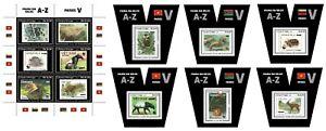 Sao Tome 2020 Stamps on stamps WWF. V Klb + 6 Blocks (607)