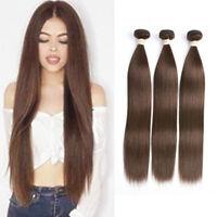 Brazilian Straight Hair 1/3/4 Bundles Medium Brown #4 Human Hair Extensions Weft