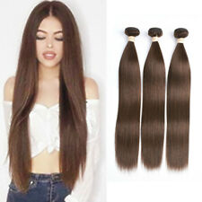 Brazilian Straight Hair 1/3/4 Bundles Medium Brown #4 Human Hair Extensions Weft