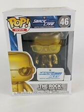 Funko Pop Wwe #46 The Rock Gold SmackDown Live 20th Anniversary Exclusive New