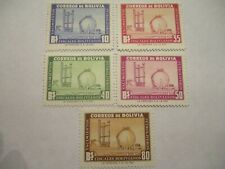 Five 1950-1952 Bolivia Postage Stamps - 10,35,40,50,60 Denomination