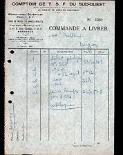 BORDEAUX (33) COMPTOIR RADIO T.S.F. du SUD OUEST en 1930