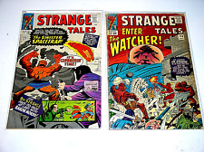STRANGE TALES #132 AND #134  TWO SILVER AGE MARVEL COMICS 1965