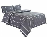Wake In Cloud - Gray Comforter Set, 100% Cotton Fabric with Soft Microfiber Inne