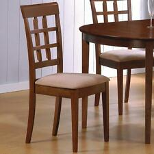 Walnut Finish Wheat Back Dining Side Chair by Coaster 101772 - Set of 2