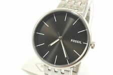 Fossil BQ2439 Hutton Quartz  Black Dial Silver Tone Stainless Steel Men's Watch