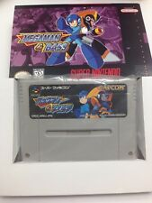 Rockman & Forte Super Famicom Snes MegaMan & Bass with Box & Tray Japanese