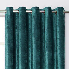 Crushed Velvet Lined Ring Top / Eyelet Curtains 8 Modern Colours SMART LOOK