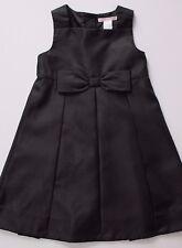 Janie & Jack Dress Winter Cheer Black Pleated Bow Holiday Christmas Size 3 NWT