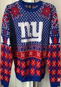 NFL New York Giants Ugly Christmas Sweater Mens Size Medium NWT MSRP $70