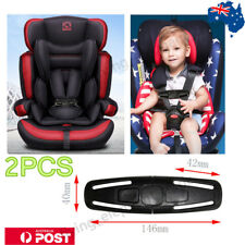 2PCS Car Baby Safety Seat Strap Belt Harness Chest Clip Child Safe Lock Buckle