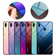 Pour Huawei P Smart Y5 Y6 Y7 Pro Y9 2019 Pente étui en rigide verre trempé coque