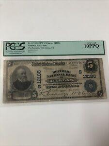 $5 1902 The Republic National Bank Dallas, TX #26312C Very Good 10 PPQ