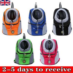 Pet Dog Carrier Puppy Travel Mesh Backpack Front Travel Portable Shoulder Bag UK