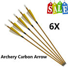 """Carbon Arrows Spine 500 Archery Feather Arrows for Recurve and Compound Bow 30"""""""