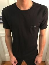 HUGO BOSS Rundhals Basic edles T-Shirt T Shirt Schwarz Gr. M 95% Cotton wie NEU