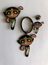 PowerPuff Girls - Buttercup! - Keychain, Magnet & Lapel Pin Set! Don't miss out!