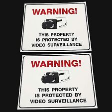 LOT OF WATERPROOF SURVEILLANCE HOME SECURITY CCTV VIDEO CAMERAS WARNING SIGN