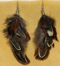Gypsy Tribal Fusion Boho Feather Gothic Hippie Goth Belly Dance Dancing Earrings