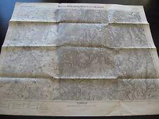 alte Karte Landkarte Einheitsblatt 131 Worms Miltenberg Mannheim Mosbach v.1921