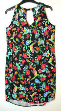 Noir Rouge Bleu Floral Casual Tunique Shift Court Taille robe XS OLD NAVY COL V
