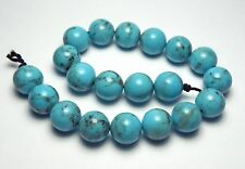 20 pcs SLEEPING BEAUTY TURQUOISE 10mm Round Beads Grade A NATURAL COLOR /R80