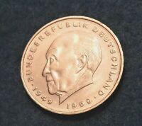 1972 F Germany 2 Mark - Konrad Adenauer - Great coin - See PIC