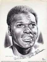 Bob Gibson Jsa Coa Cert Authentic Hand Signed 8x10 Lithograph Autograph