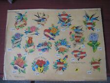 Vintage Tattoo Flash...Paul Rogers...Hand-Colored