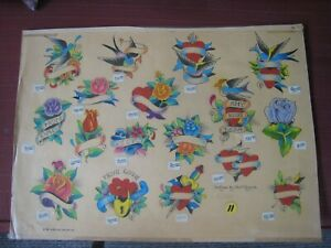 Vintage Tattoo Flash...Paul Rogers...Hand-Colored
