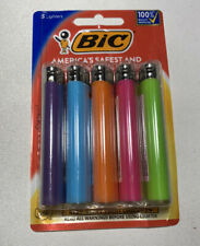 New ListingBic Classic Cigarette Lighters Disposable Full Size, Assorted Colors Pack of 5
